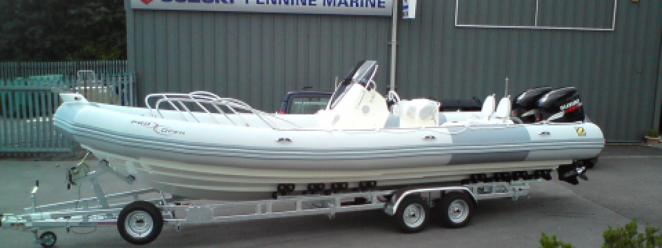 Quite simply England and the Uks' best powerboat, rib and outboard engine, Pennine Marine in Ilkley is superbly equiped for all customer needs. we supply a rnage of infltable boats including Avon, Zodiac, Zodiac Milpro, Pioneer and Whaly. Pennine Marine also sells the full UK range of outboard engines from Yamaha, Torqeedo, Suzuki and Tohtsu, as well as Mercury Mariner.and hinda. Pennine marine can repair and service all brands of outboard engine including Yamaha servicing; Suzuki servicing,Honda servicing,